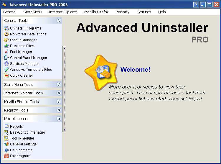 Название Advanced Uninstaller PRO 2006 Версия 7.5.1 Функция