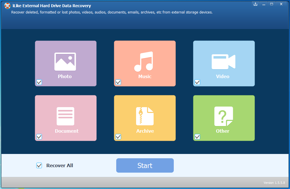 iLike External Hard Drive Data Recovery1.5.8.8 破解版